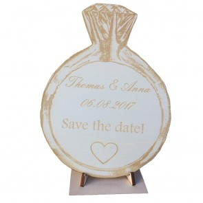 "Holzkarte ""Save the Date"""